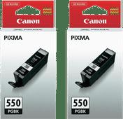 Canon PGI-550 Cartridges Pigment Black Duo Pack