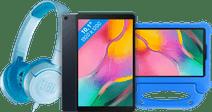 Samsung Galaxy Tab A 10.1 (2019) 32 GB Wifi Zwart + Kinderhoes + Koptelefoon Blauw