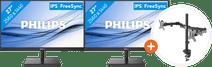 Philips 275E1S/00 + NewStar FPMA-D550DBLACK