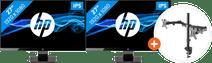 2x HP 27w + NewStar FPMA-D550DBLACK
