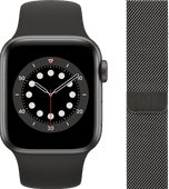 Apple Watch Series 6 40mm Space Gray Aluminum Black Sport Band + Milanese Graphite