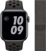 Apple Watch Nike Series 6 40mm Space Gray Aluminium Zwarte Sportband + Milanees Grafiet