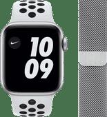 Apple Watch Nike Series 6 40mm Zilver Aluminium Witte Sportband + Apple Watch 38/40 mm Pol