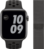 Apple Watch Nike Series 6 44mm Space Gray Aluminium Zwarte Sportband + Apple Watch 42/44 m