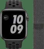 Apple Watch Nike Series 6 44 mm Aluminium Gris Sidéral Bracelet Sport Noir + Apple Watch 4
