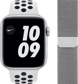 Apple Watch Nike Series 6 44mm Zilver Aluminium Witte Sportband + Apple Watch 42/44 mm Pol