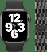 Apple Watch SE 44 mm Aluminium Gris Sidéral Bracelet Sport Noir + Bracelet Milanais Graphi