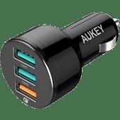 Aukey Quick Charge 3.0 Chargeur de Voiture sans Câble 3 Ports USB-A 18 W Noir