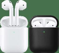 Apple Airpods 2 met draadloze oplaadcase + Hoesje