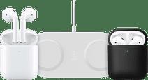 Apple AirPods 2 avec Boitier de Charge sans Fil + Chargeur sans Fil + Étui
