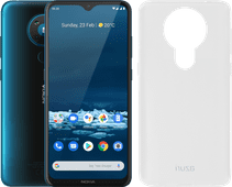 Nokia 5.3 64 Go Bleu + Azuri TPU Nokia 5.3 Back Cover Transparent