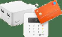 SumUp Air Contactloos Pinapparaat + Azuri Oplader zonder Kabel 2 Usb Poorten 12W Wit