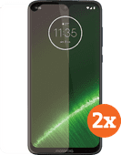 Azuri Tempered Glass Motorola G7 Plus Screenprotector Duo Pack