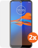 Azuri Tempered Glass Motorola Moto E6 Plus Screenprotector Duo Pack