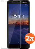Azuri Tempered Glass Nokia 3.1 Screenprotector Duo Pack