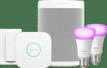 Sonos One Blanc Philips Hue White & Color Starter Lot de 2
