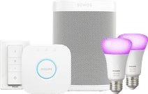 Sonos One Wit Philips Hue White & Color Starter Duo Pack