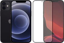 Apple iPhone 12 64GB Zwart + Azuri Tempered Glass Screenprotector