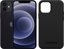 Apple iPhone 12 128GB Zwart + Otterbox Symmetry Back Cover Zwart