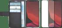 Azuri Wallet iPhone 12 mini Book Case Noir + protège-écran Azuri