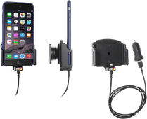 Brodit Universele Telefoonhouder Auto 75 - 89mm Dashboard met Lightning Oplader