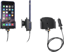 Brodit Universele Telefoonhouder Auto 62 - 77mm Dashboard met Lightning Oplader
