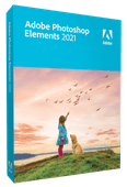 Adobe Photoshop Elements 2021 (Anglais, Windows + Mac)