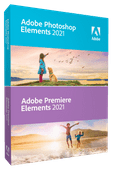 Adobe Photoshop & Premiere Elements 2021 (Français, Windows + Mac)