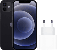 Apple iPhone 12 64GB Zwart + Apple Usb C Oplader 20W