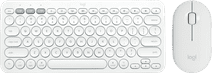 Logitech Pebble M350 Draadloze Muis Wit + LOGITECH K380 Multi-Device Bluetooth Toetsenbord