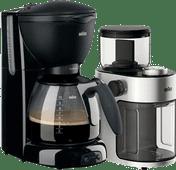 Braun PurAroma Plus KF560/1 Zwart + Braun KG 7070 koffiemolen