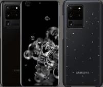 Samsung Galaxy S20 Ultra 128GB Zwart 5G + Samsung Galaxy S20 Ultra Led Back Cover Zwart