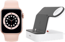 Apple Watch Series 6 40mm Rose Gold Pink Sport Band + Belkin Docking Station White