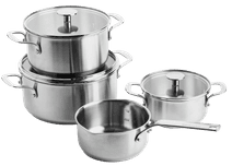 KitchenAid Stainless Steel 4-delige kookpannenset