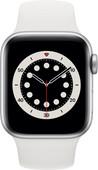 Apple Watch Series 6 4G 40mm Zilver Aluminium Witte Sportband