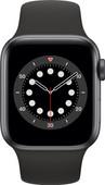 Apple Watch Series 6 4G 40mm Space Gray Aluminium Zwarte Sportband