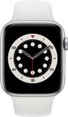 Apple Watch Series 6 4G 44mm Zilver Aluminium Witte Sportband