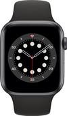 Apple Watch Series 6 4G 44mm Space Gray Aluminium Zwarte Sportband