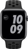 Apple Watch Nike Series 6 4G 44mm Space Gray Aluminium Zwarte Sportband