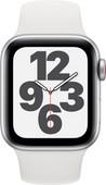 Apple Watch SE 4G 40mm Zilver Aluminium Witte Sportband