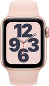 Apple Watch SE 4G 40mm Goud Aluminium Roze Sportband
