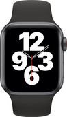 Apple Watch SE 4G 40mm Space Gray Aluminium Zwarte Sportband