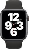 Apple Watch SE 4G 44mm Space Gray Aluminium Zwarte Sportband