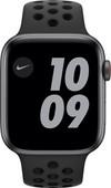 Apple Watch Nike SE 4G 44mm Space Gray Aluminium Zwarte Sportband