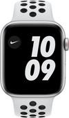 Apple Watch Nike SE 4G 44mm Zilver Aluminium Witte Sportband