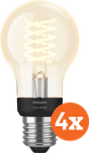 Philips Hue Filamentlamp White Standaard E27 Bluetooth 4-Pack