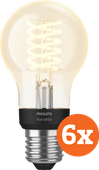 Philips Hue Filamentlamp White Standaard E27 Bluetooth 6-Pack