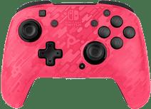 PDP Faceoff Draadloze Nintendo Switch Deluxe Controller Neon Roze Camo