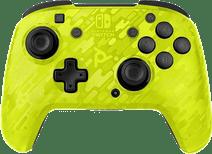 PDP Faceoff Manette sans Fil Nintendo Switch Deluxe Neon Jaune Camo