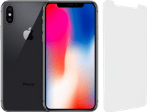 iPhone X 64 Go Gris Sidéral Reconditionné + Protège-écran InvisibleShield Glass Elite